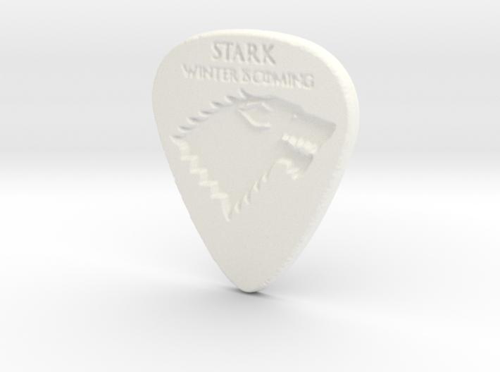 Game of Thrones Stark Guitar Pick 3d printed