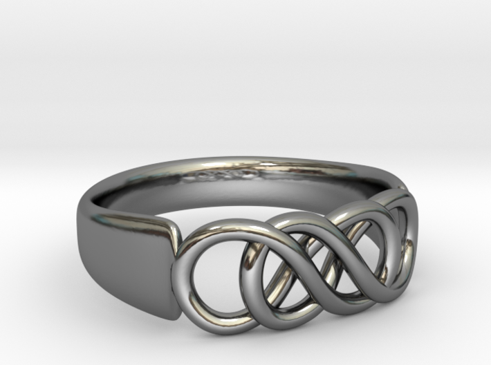 Double Infinity Ring 16.5mm size 6 3d printed