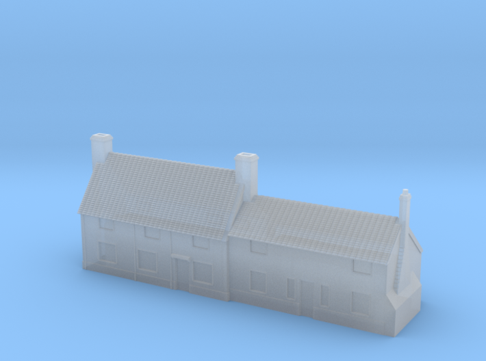 1:700 Scale Parham Village House #4 3d printed