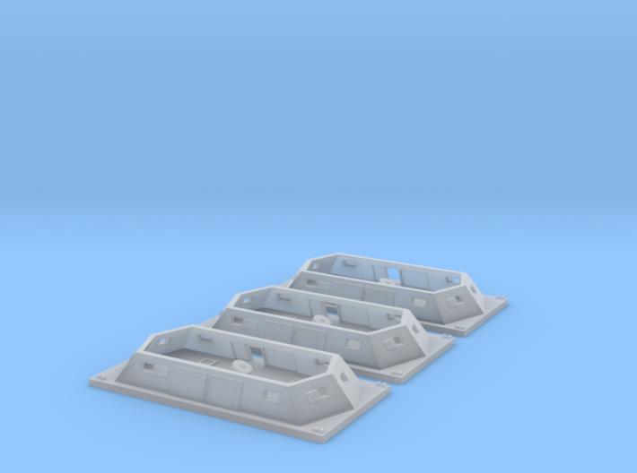 3 Generic Mortar boats 1/600 3d printed