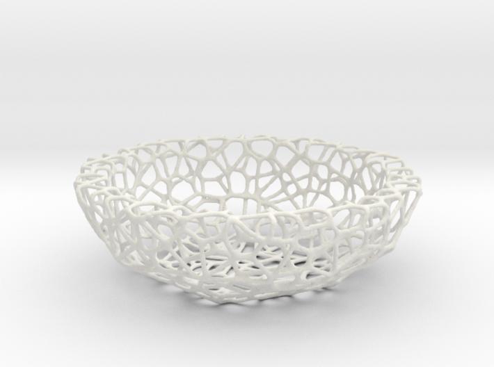 Bowl (19 cm) - Voronoi-Style #1 3d printed