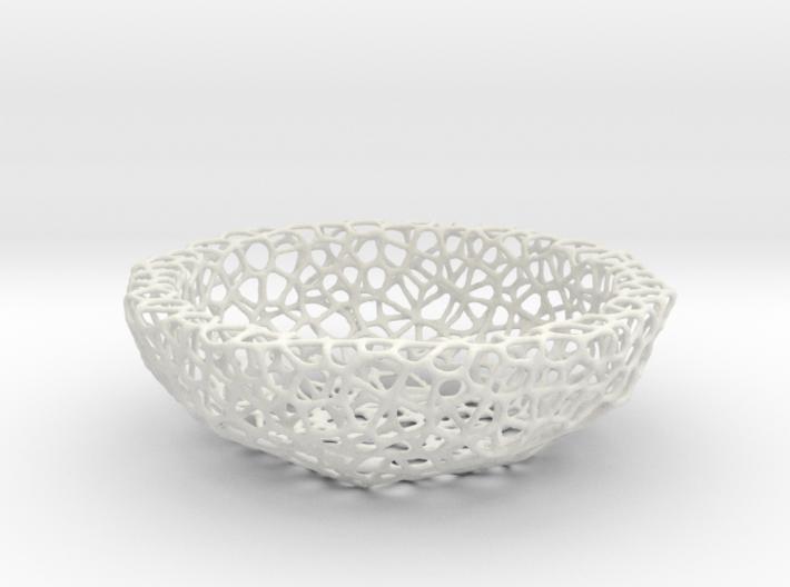 Fruit bowl (34 cm) - Voronoi-Style #2 3d printed