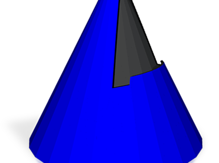 Cone stand - 3.3in, Blue 3d printed