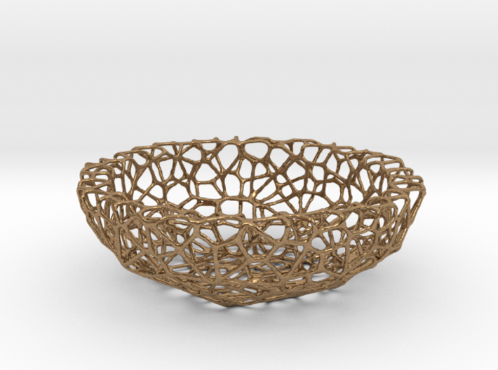 Mini shell / bowl (6 cm) - Voronoi-Style #1 3d printed