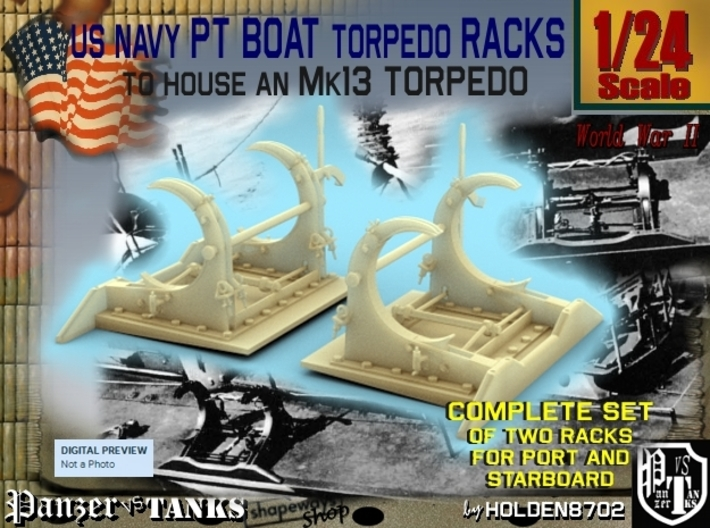1-24 PT Torpedo Rack TypB 3d printed