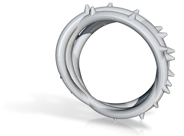 Rose Thorn Ring - Sz.11 3d printed