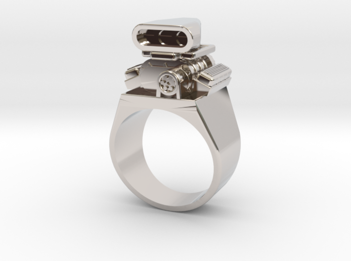 Size 10 Big Block Entertainment Supercharger Ring 3d printed