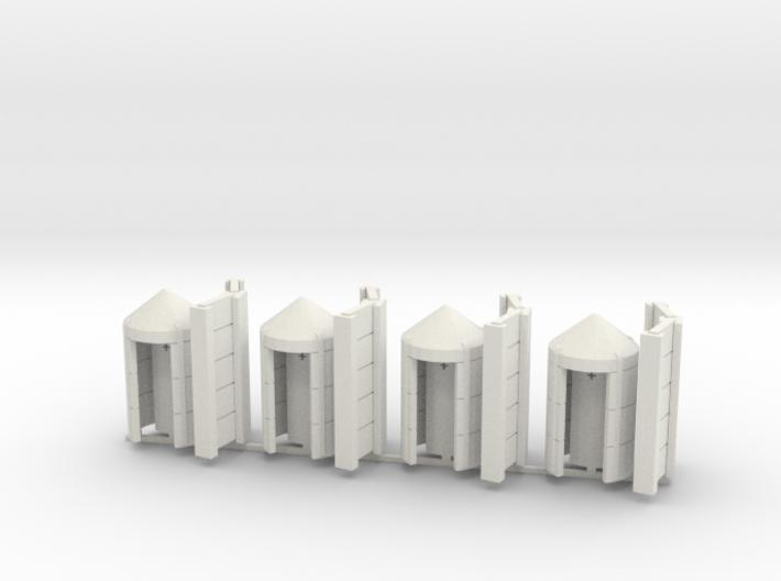 4 abris anti-aérien SNCB / 4 NMBS bunkertjes 3d printed