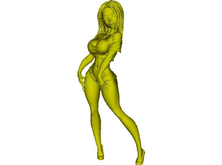 650mm scale striptease sexy girl figure 3d printed