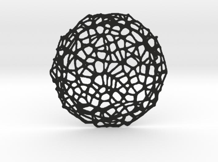 Drink coaster - Voronoi #8 (8 cm) 3d printed