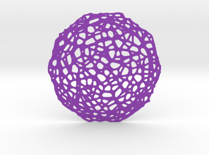 Drink coaster - Voronoi #7 (8 cm) 3d printed