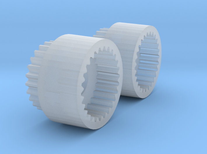 Alco C-855 Drive Shaft Extenders (old) - N Scale 3d printed