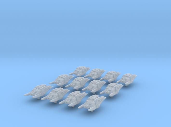 (Armada) 12x Heavy Cylon Raiders 3d printed