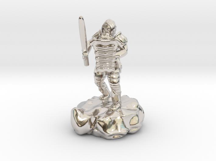 Hill Dwarf Figher 3d printed
