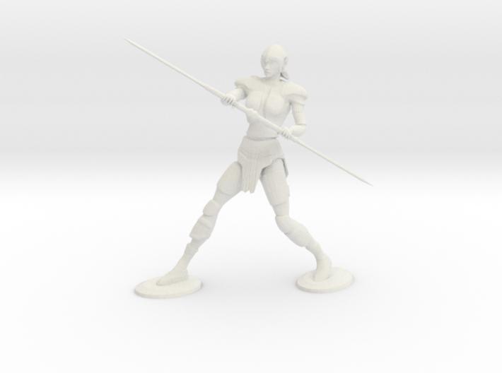 Armored Female Elf 3d printed