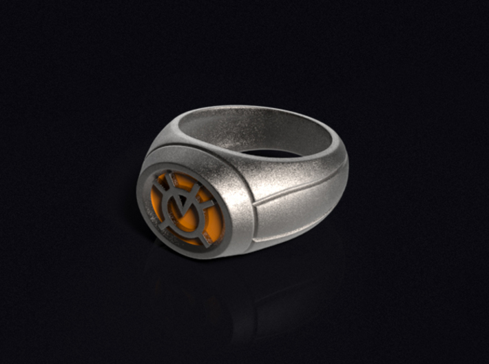 Orange Lantern Ring 3d printed 3D render of the ring. Does not come with enamel paint applied.