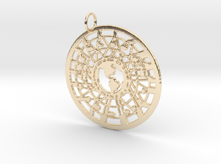 'Our World' Pendant 3d printed