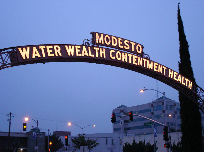 MODESTO ARCH SIGN 1:48 3d printed
