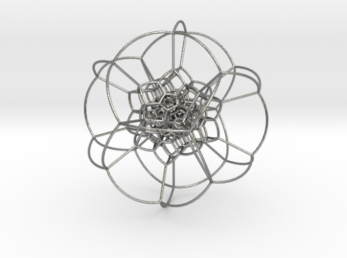 120-cell stereographic, small 3d printed