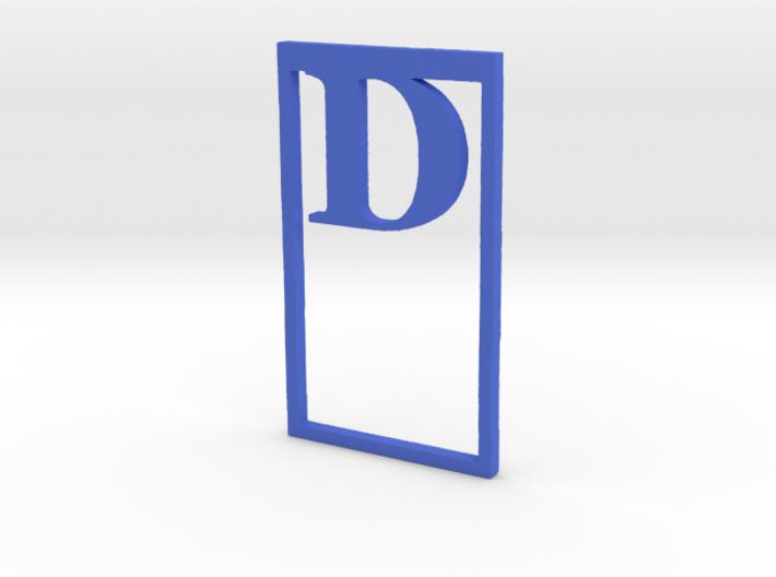 Bookmark Monogram. Initial / Letter  D  3d printed