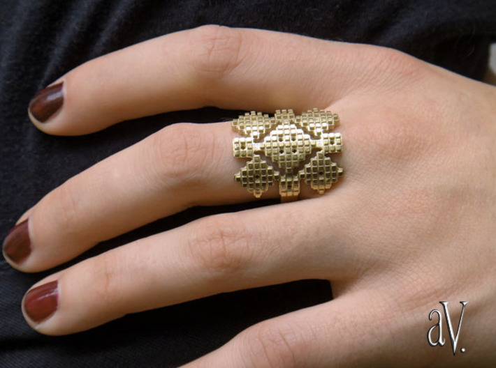 Lith Patch Work Ring 3d printed