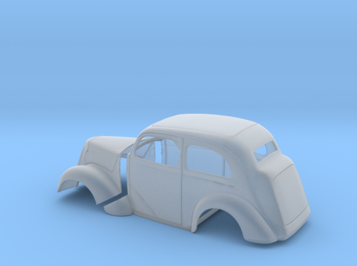 1/43 1949 Anglia Full Body Tilt Front 3d printed