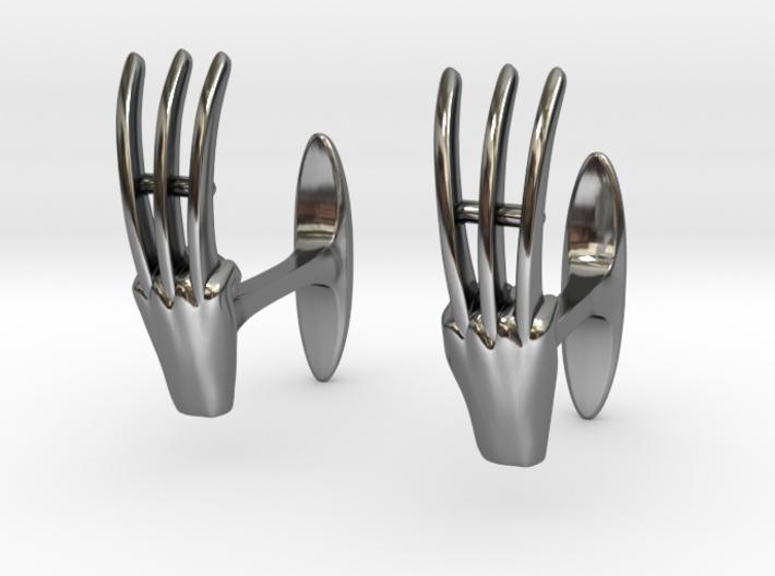 Claws cufflinks 3d printed