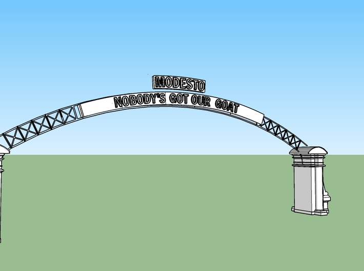 """T"" Modesto Arch Alternative Slogan 1:48 3d printed"
