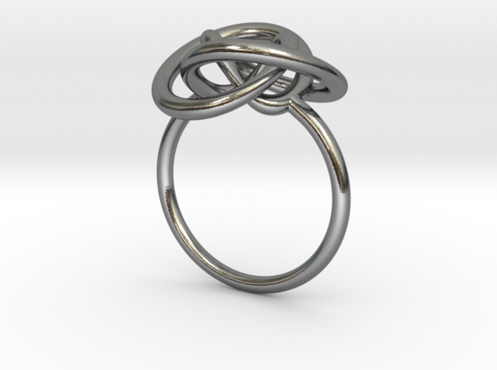 Infinity Knot Ring 3d printed