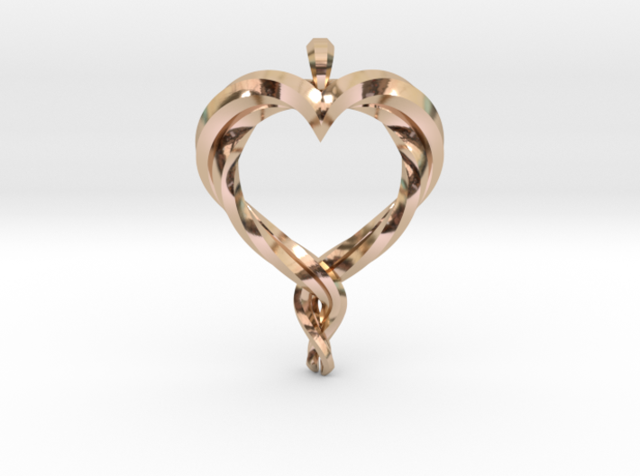 Twisted Heart 3d printed