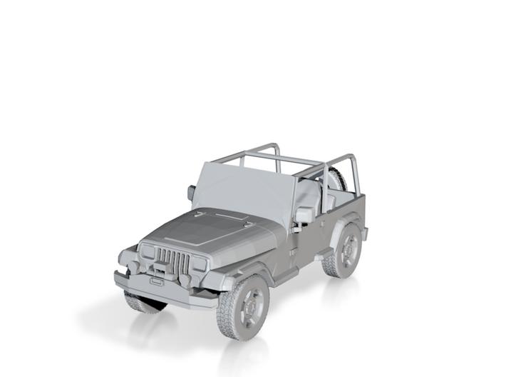 Jurassic Park Jeep - 15mm 3d printed