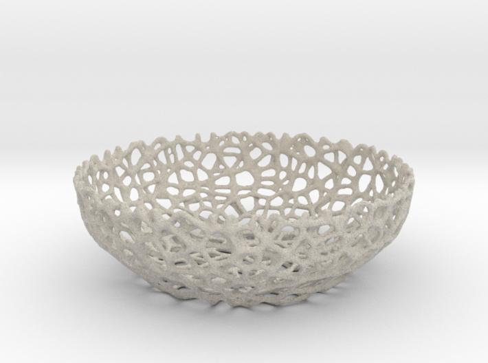 Voronoi bowl (20 cm) - Style #8 3d printed