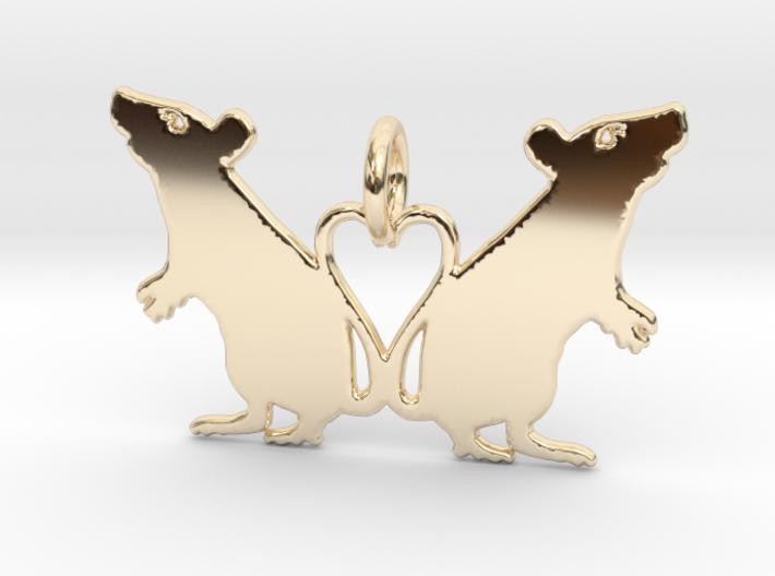 Rat Heart Pendant 3d printed