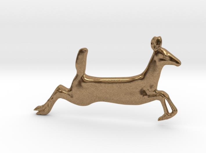 Running Fawn Pendant 3d printed