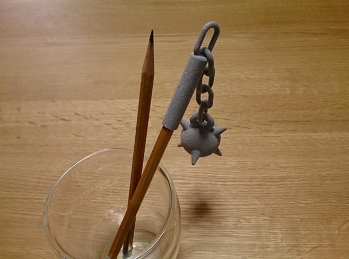 Morning Star Pen Cap 3d printed Morning star pen cap (Alumide)