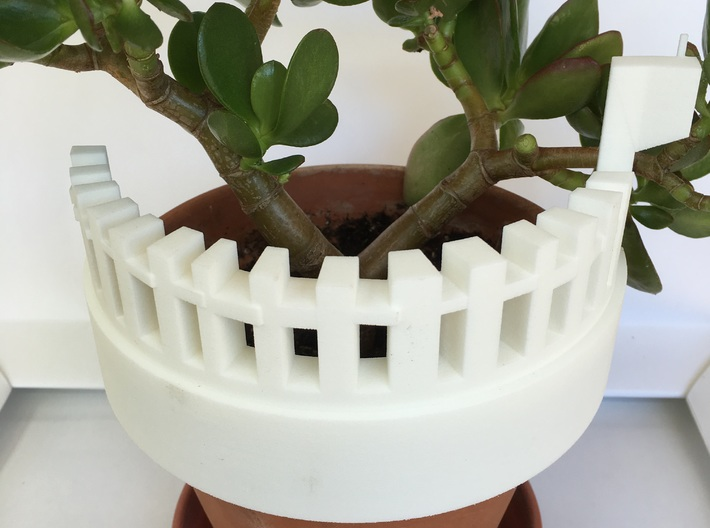White Picket Fence (6 in.) 3d printed