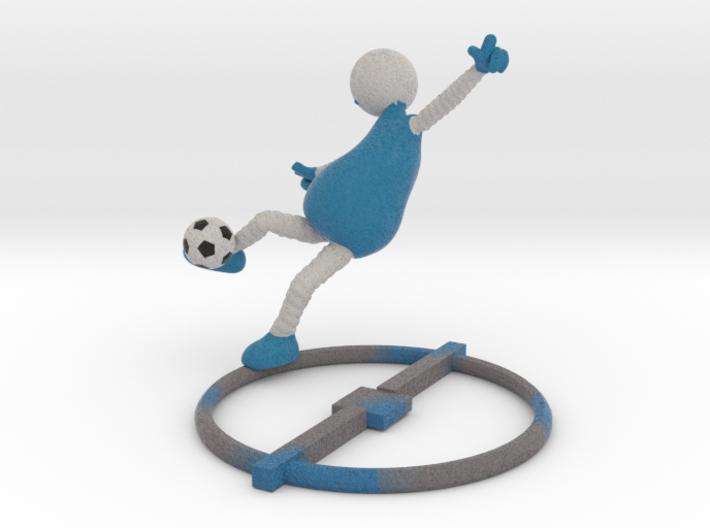Football Pose 1 - (soccer) 1017N 3d printed
