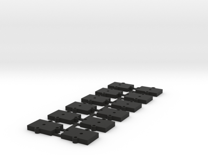 (12) O Gauge 3mm Shims 3d printed