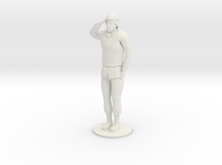 Female Soldier Salute 3d printed