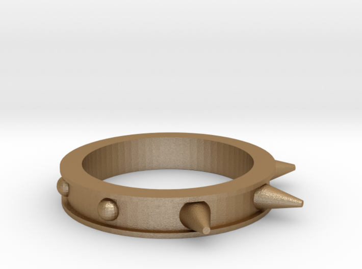 Spikes and Studs Ring 3d printed