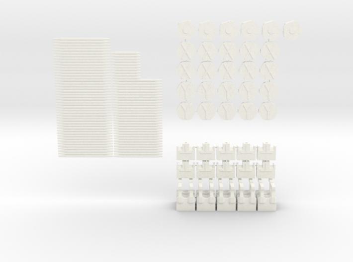 Mini Greenhouse-Dome Set #1 - short (clickable) 3d printed