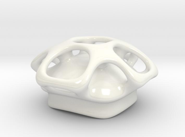 Molecule Sugar Bowl Lid  3d printed