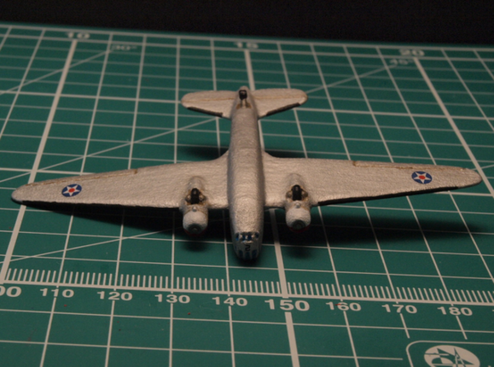 Douglas B-18 Bolo Original 6mm 1/285 (In flight) 3d printed Bomber Douglas B-18 painted as Number 2, 7th Bombardment Group, Hamilton Field circa 1938