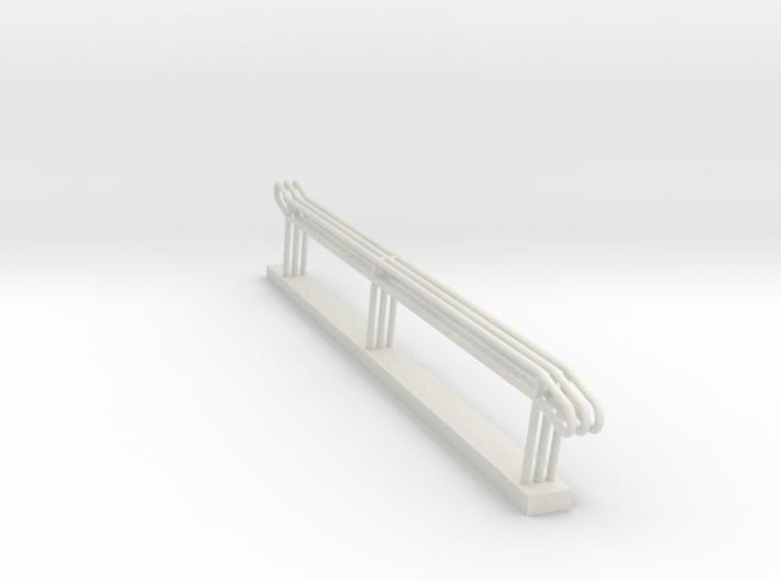 MOF Stair Rail 11 Step - 72:1 Scale 3d printed