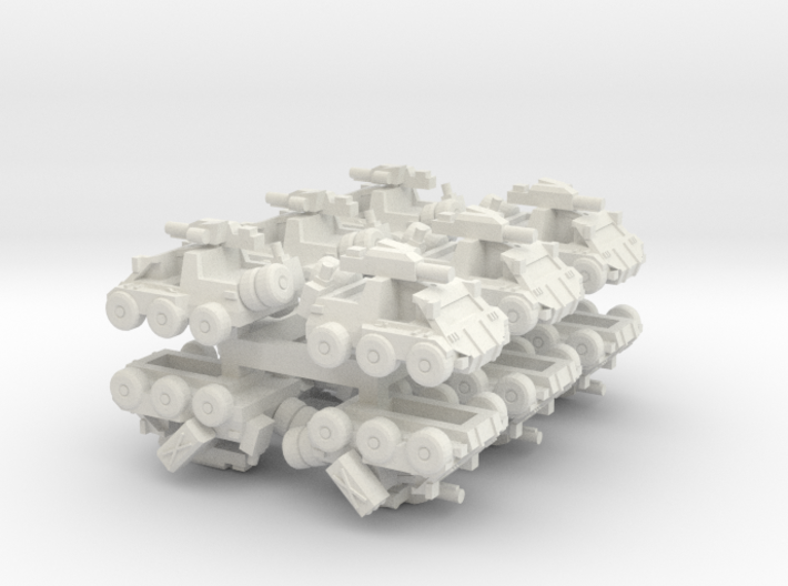 6mm Bromely Recce Vehicle (12pcs) 3d printed
