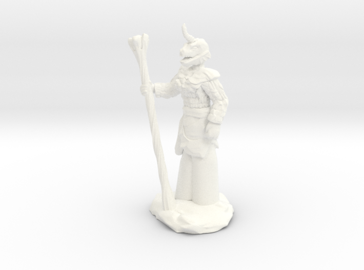 Female Dragonborn Druid 3d printed
