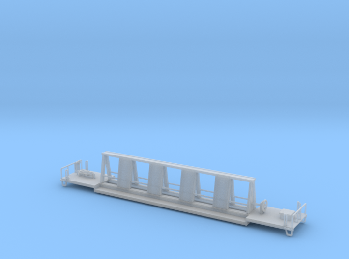 72ft MOW Flat Car Z Scale 3d printed 72ft MOW Flat Car Z scale
