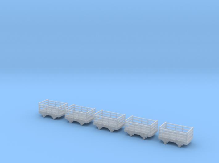 009 Festiniog wooden slate wagon x5 3d printed