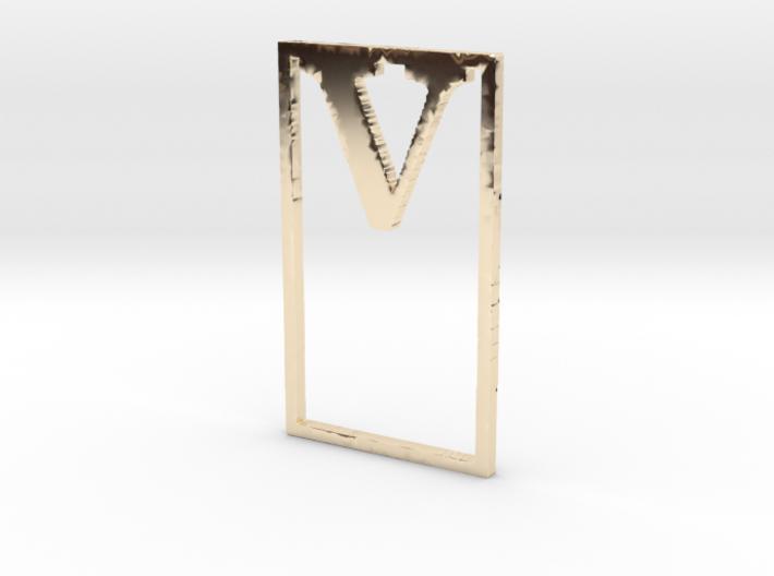 Bookmark Monogram. Initial / Letter V 3d printed