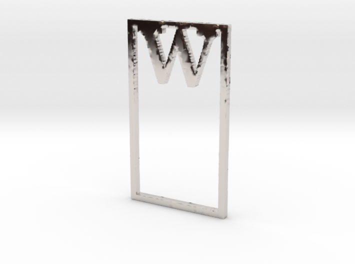Bookmark Monogram. Initial / Letter W 3d printed